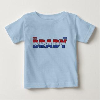 Voto Brady 2010 elecciones blanco y azul rojos Tshirt