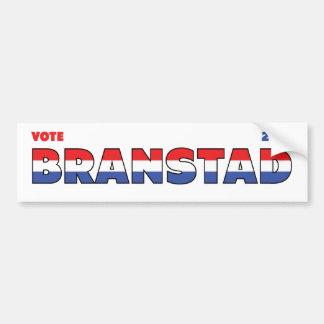 Voto Branstad 2010 elecciones blanco y azul rojos Pegatina Para Auto