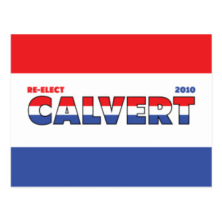 Voto Calvert 2010 elecciones blanco y azul rojos Tarjeta Postal