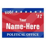 VOTO - campaña política Tarjetas De Visita