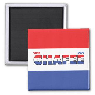 Voto Chafee 2010 elecciones blanco y azul rojos Imán Cuadrado