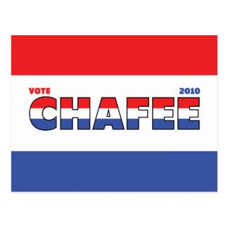 Voto Chafee 2010 elecciones blanco y azul rojos Tarjetas Postales