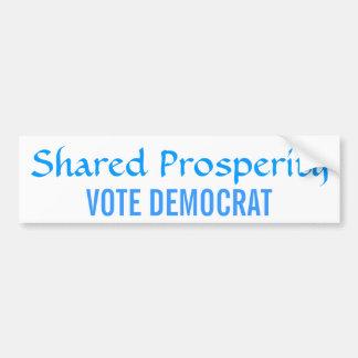 Voto compartido Demócrata de la prosperidad Pegatina Para Auto