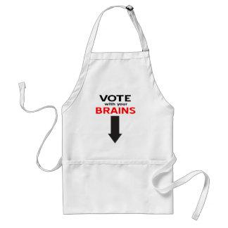 Voto con su delantal de los cerebros