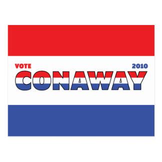 Voto Conaway 2010 elecciones blanco y azul rojos Postales