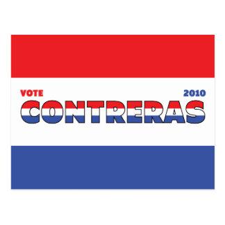 Voto Contreras 2010 elecciones blanco y azul rojos Postal