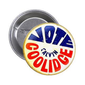 Voto Coolidge - botón Pins