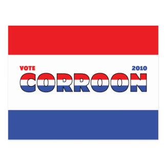 Voto Corroon 2010 elecciones blanco y azul rojos Postales