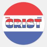 Voto Crist 2010 elecciones blanco y azul rojos Pegatina
