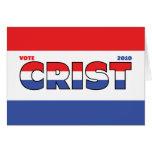 Voto Crist 2010 elecciones blanco y azul rojos Tarjeton