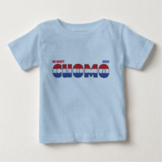 Voto Cuomo 2010 elecciones blanco y azul rojos Playera De Bebé