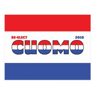 Voto Cuomo 2010 elecciones blanco y azul rojos Tarjeta Postal