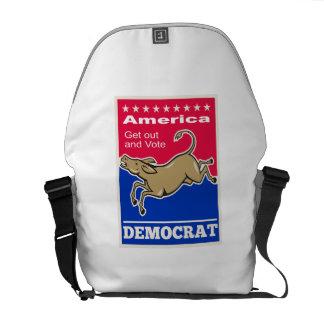 Voto de América de la mascota del burro de Demócra Bolsas De Mensajería