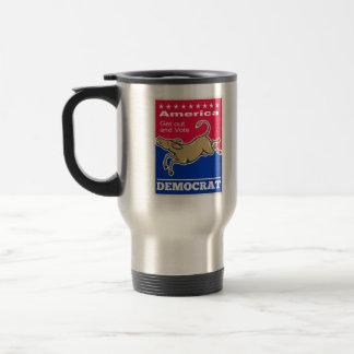 Voto de América de la mascota del burro de Demócra Taza De Café