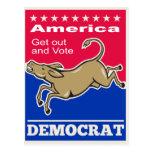 Voto de América de la mascota del burro de Postal