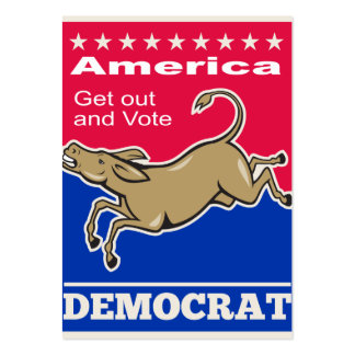 Voto de América de la mascota del burro de Tarjetas De Visita Grandes