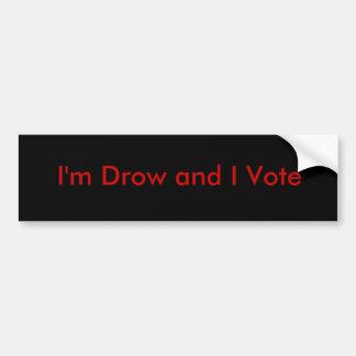 Voto de Drow Pegatina Para Auto