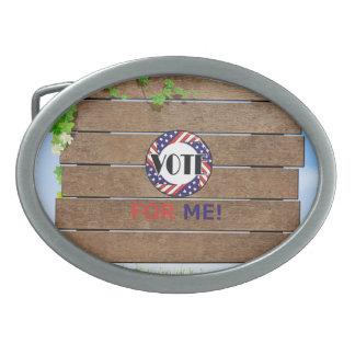 Voto de la CAMISETA para mí Hebillas Cinturón Ovales