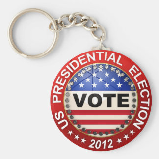 Voto de la elección presidencial 2012 llavero personalizado