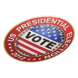 Voto de la elección presidencial 2012 platos de comidas