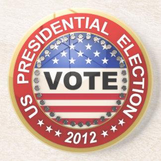 Voto de la elección presidencial 2012 posavasos diseño