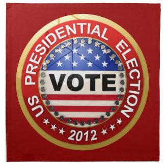 Voto de la elección presidencial 2012 servilletas de papel