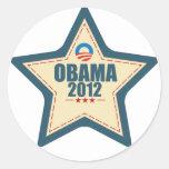 Voto de la estrella de Barack Obama 2012 Pegatinas