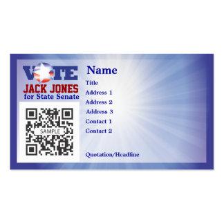 Voto de la plantilla de la tarjeta de visita