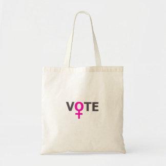 Voto de las mujeres bolsa tela barata