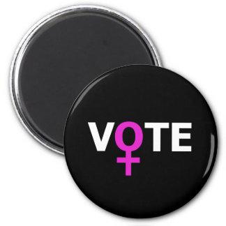 Voto de las mujeres imán redondo 5 cm