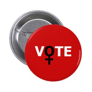 Voto de las mujeres pin redondo de 2 pulgadas