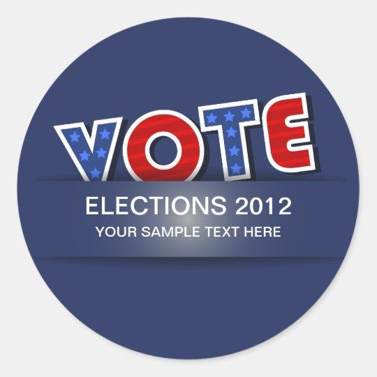 Voto de los E.E.U.U. Pegatina Redonda