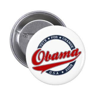 Voto de OBAMA 2008 para el cambio - botón Pin Redondo De 2 Pulgadas