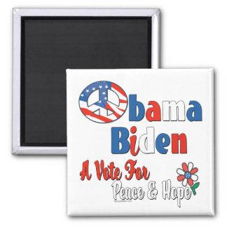 Voto de Obama Biden para la paz y el amor Imanes