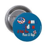 Voto de Obama Biden para la paz y el amor Pin
