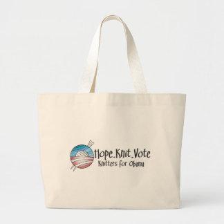 Voto de punto de la esperanza, tote bolsa tela grande