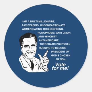 Voto de Romney para Me png Etiqueta