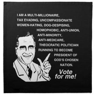 Voto de Romney para Me.png Servilleta De Papel