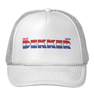 Voto Dekker 2010 elecciones blanco y azul rojos Gorro