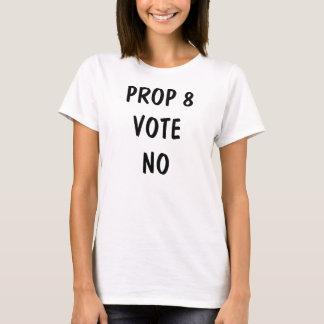 VOTO del APOYO 8 NINGUNA camiseta (mujeres)