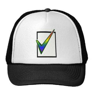 voto del arco iris gorros bordados