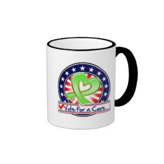Voto del linfoma para una curación taza de café