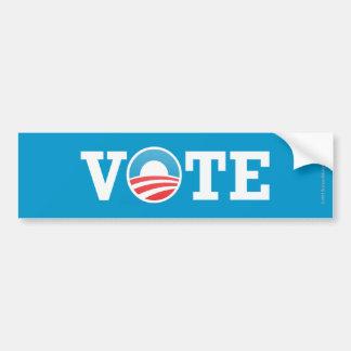 Voto del pegatina de Favorable-Obama Pegatina Para Auto