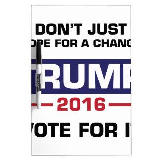 Voto del triunfo para el cambio pizarra blanca