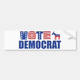 Voto Demócrata (barras y estrellas) Etiqueta De Parachoque