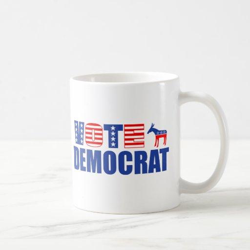 Voto Demócrata (barras y estrellas) Tazas