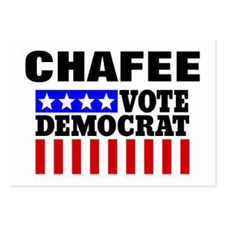 Voto Demócrata de Chafee para el presidente Tarjetas De Visita Grandes