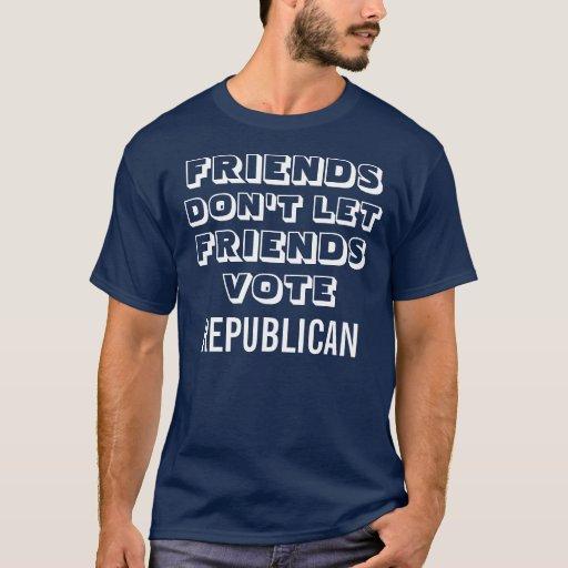 Voto Demócrata de los amigos Playera