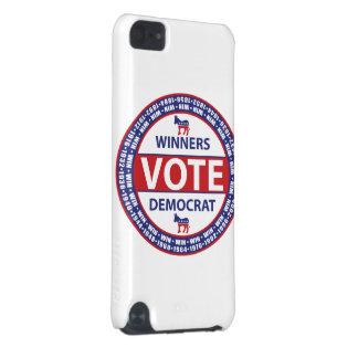 Voto Demócrata de los ganadores