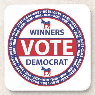 Voto Demócrata de los ganadores Posavasos